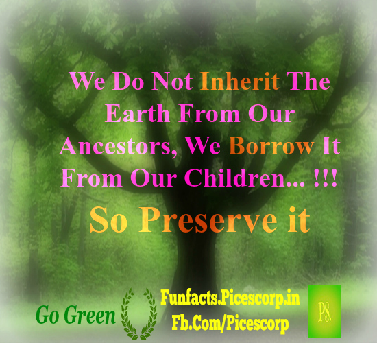 Happyearthday go green with these nature quotes for Facts about going green